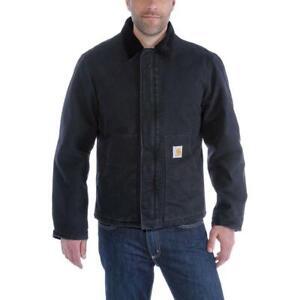 najlepszy hurtownik odebrane za kilka dni Details about NEW Carhartt Men's Sandstone Traditional Jacket Black EJ022  Size 2XL