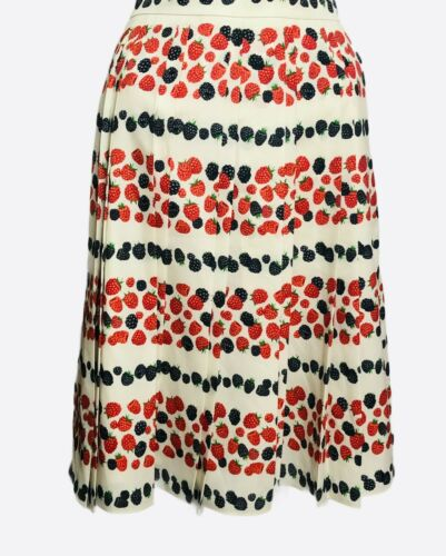 J CREW Raspberry Blueberry Berry Pleat Skirt size