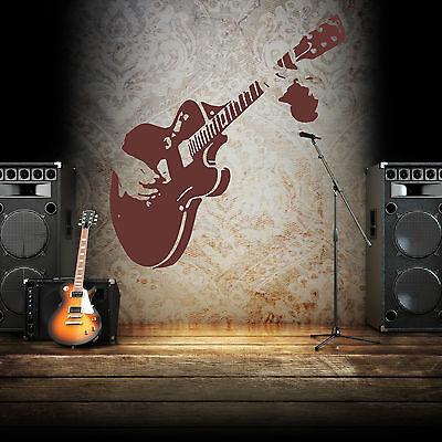 Guitarra De Pared Arte Vinilo habitación pegatina transferencia calcomanía sala de música Gibson