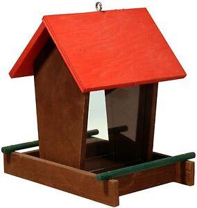 Grosses Vogelhaus Mit Futter Silo Futtersaule Vogelfutterhaus