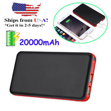 20000mah Dual USB Portable Battery Charger Power Bank FR Samsung Note 8 iPhone X