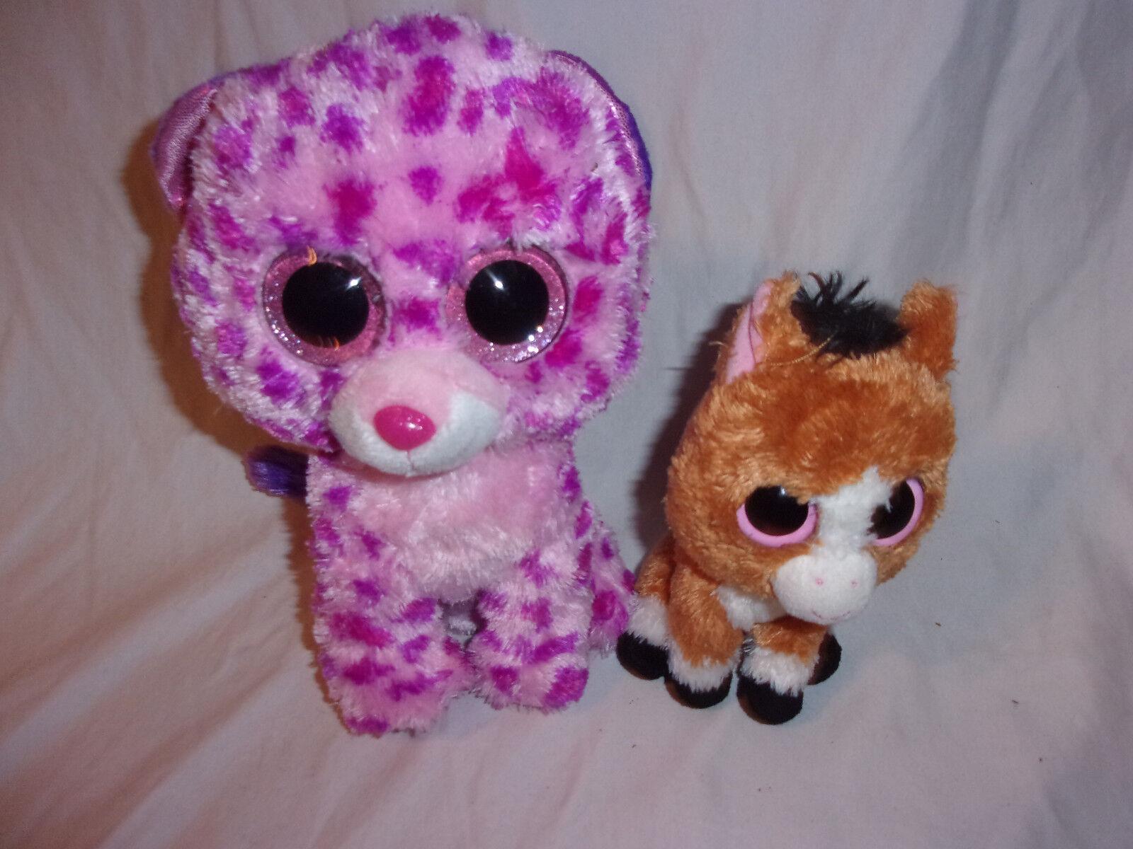 Ty Dakota 7  Horse 9  Large Eyed Glamour Plush Soft Toy Stuffed Animal