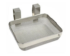 """ULTRASONIC CLEANING MESH HANGING BASKET 4""""x5""""x1-1/2"""" JEWELRY PARTS WATCH PIECES"""