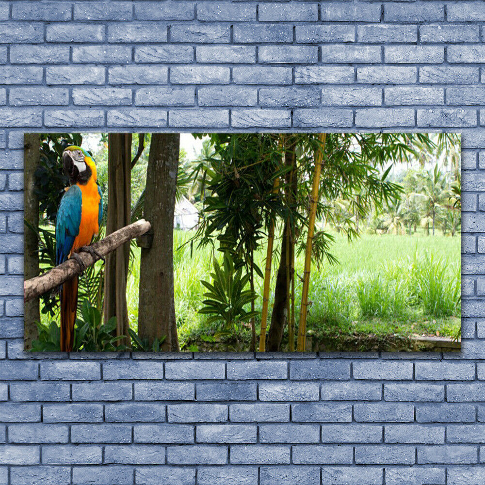 Leinwand-Bilder Wandbild Leinwandbild 140x70 Papagei Bäume Natur