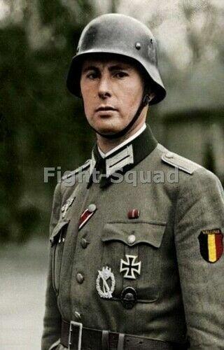 WW2 Picture Photo Famous Léon Degrelle German Belgian Soldier with uniform 3338