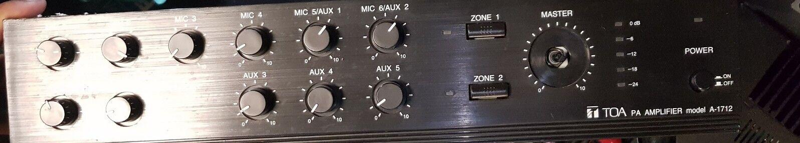 TOA PA Amplifier - A-1712