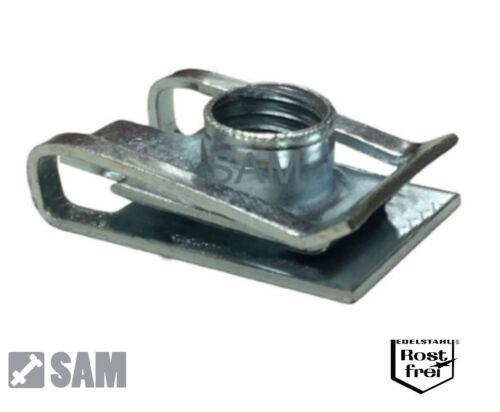 10 pièces en tôle Écrous Serrage Clip Nuts acier inoxydable a2 m5 écrous de serrage