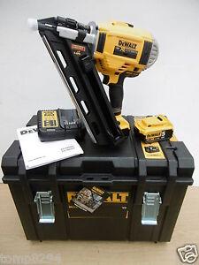 dewalt dcn692p2 xr 18v 1st fix nailer 5 ah in tough case 428 screwdriver set ebay. Black Bedroom Furniture Sets. Home Design Ideas