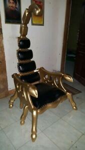Super Details About Unique Hand Carved Scorpion Throne Chair Made Of Solid Wood Beutiful Home Inspiration Ommitmahrainfo