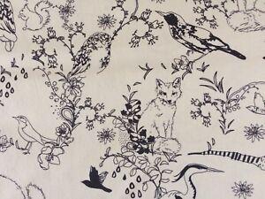 Wild Life 100 Metre 100 Cotton Poplin Off White Background Ebay