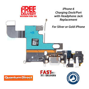 Details About New Iphone 6 Replacement Charging Dock Port Embly Headphone Jack Mic