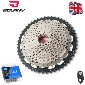 BOLANY MTB 11-40//42//46//50T Cassette KMC Sprocket Chains Hook Fit Shimano SRAM UK