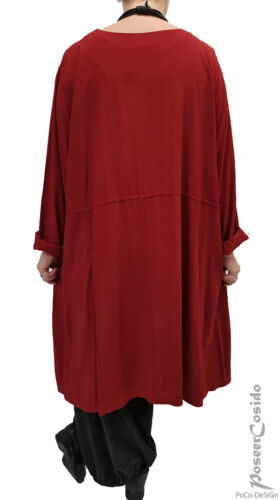 LA BASS LAGENLOOK Tunika Kleid Long Shirt XL-XXL-XXXL curry 48 50 52 54 56 58
