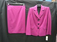 Lesuit Skirt Suit/nwt/$240/size16w/fully Lined/smoke Free/skirt Length 25