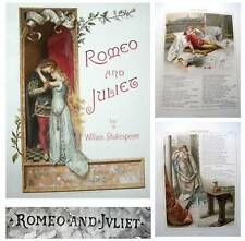 1890 William Shakespeare ROMEO AND JULIET Stunningly Beautiful Victorian edition