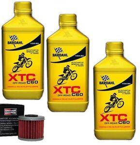 KIT-TAGLIANDO-BARDAHL-XTC-10W50-4-T-CROSS-FILTRO-OLIO-HONDA-CRF-450-2014