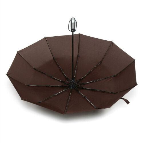 Large AUTO Umbrella Open /& Close Windproof Travel Compact Folding Mens Womens UK