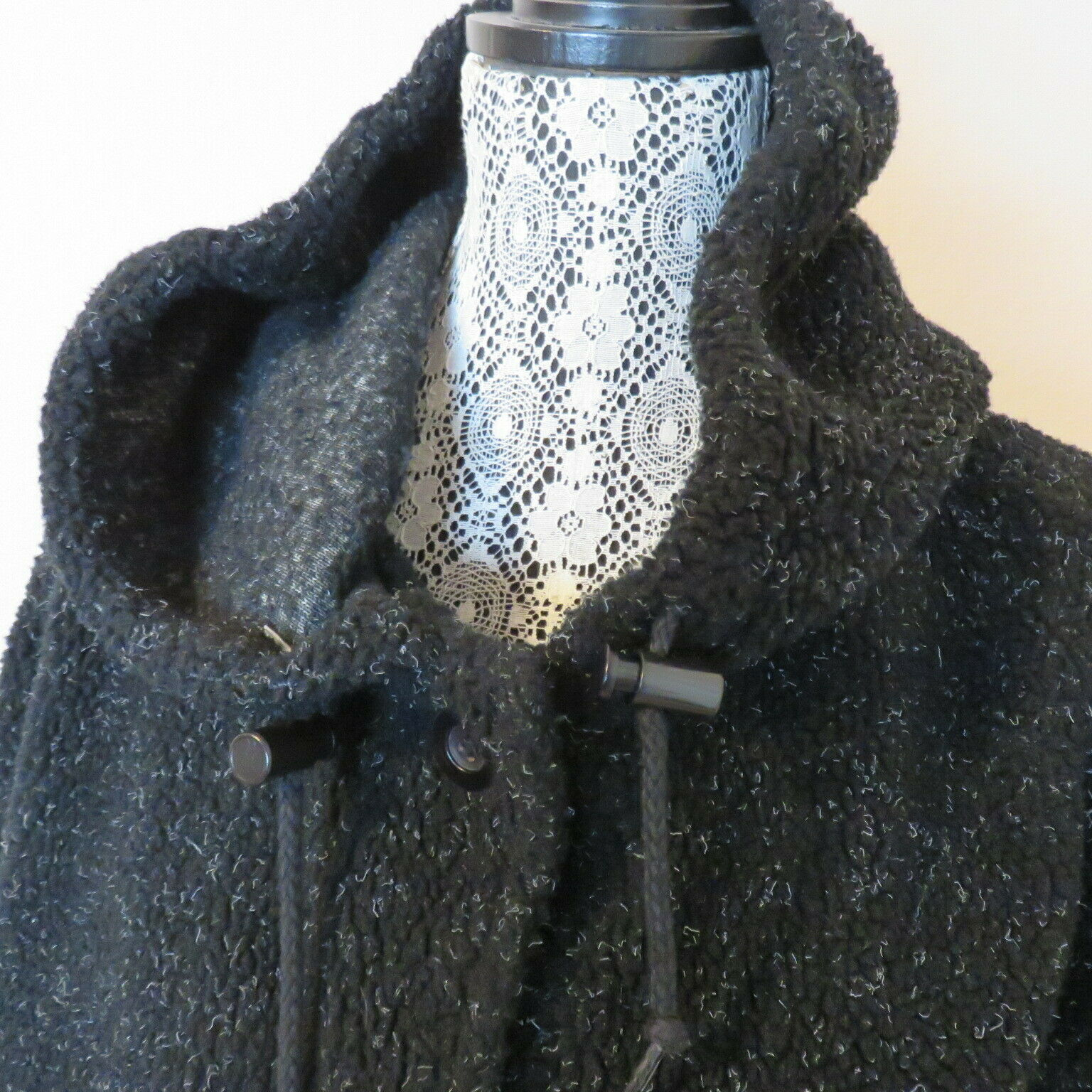 Roaman's M Fleecy Hooded Pockets Duffel Coat Wome… - image 3