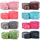 6Pcs Travel Storage Bag Waterproof Clothes Packing Cube Luggage Organizer Set US