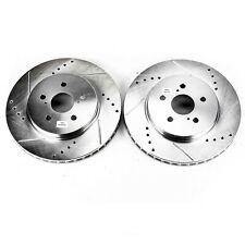 Evolution Performance Drilled /& Slotted Rotors Power Stop JBR751XPR Rear
