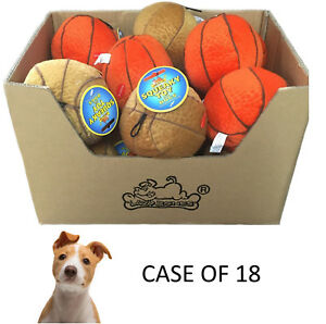 CASE-OF-18-LAZYBONES-5-034-DOG-PUPPY-SOFT-PLUSH-BALLS-INDOOR-DOG-PUPPY-PLAY-TOYS-HM