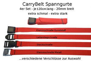 "Fahrrad Sicherung CarryBelt Spanngurt /""Reims20/"" 4er Set Gepäck Outdoor"