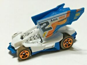 Hot Wheels Extreme Race Dirty Outlaw Blue White 2019 - Loose Diecast Car