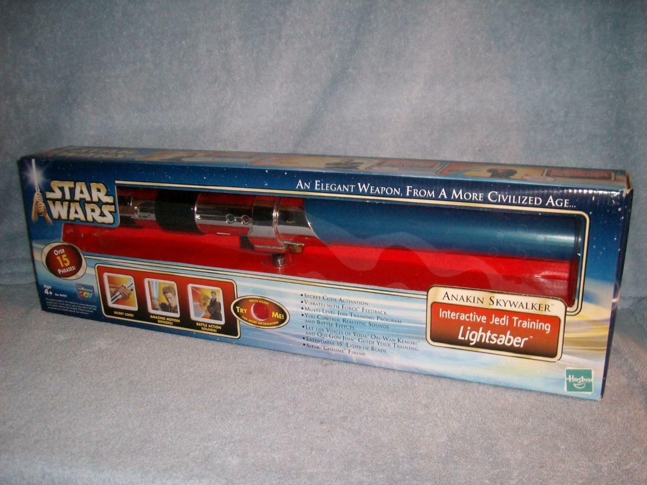 Anakin Lightsaber Interactive Blau Lightsaber Electronic Lights Sounds 2002 New
