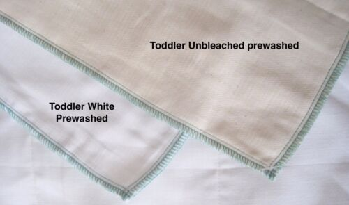 12 100/% cotton Chinese prefold diapers TODDLER 4//8//4 Natural unbleached DSQ