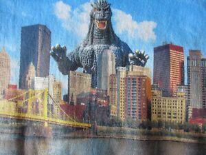 961d2557635b27 Godzilla in Pittsburgh Adult Blue T-Shirt - Sizes Sm - 3XL- NEW
