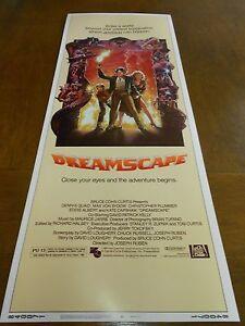 DREAMSCAPE (1984) DENNIS QUAID ORIGINAL INSERT POSTER NICE!