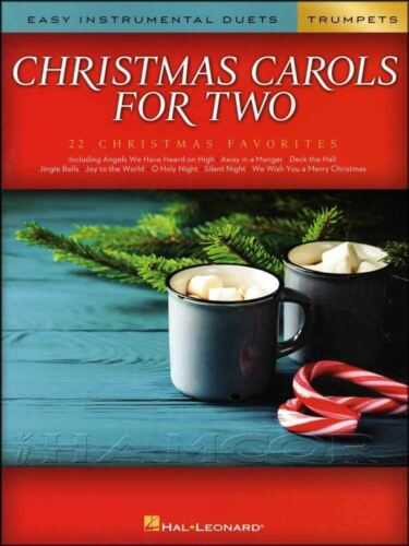 Christmas Carols for Two Easy Instrumental Duets for Trumpets Sheet Music Book