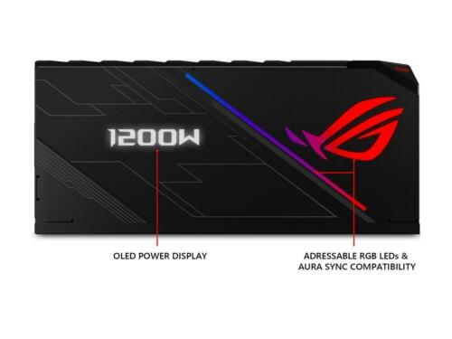 Platinum 1200W Fully Modular RGB Power Supply with LIVEDA ASUS ROG Thor 1200 80