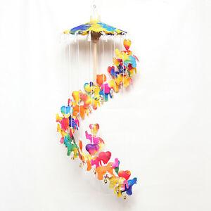 Rainbow Elefante Da Appendere commercio equo e solidale CUORE Bell Mobile Carta Vivaio Stanza Dei Giochi  </span>