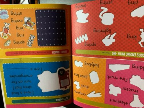 """MY FIRST BOOK OF STICKERS /""""RHYMES AND OPPOSITES/"""" BRAND NEW FUN ACTIVITIES GAMES"""