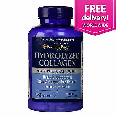 Puritans Pride Hydrolyzed Collagen 1000 mg - 180 Caplets