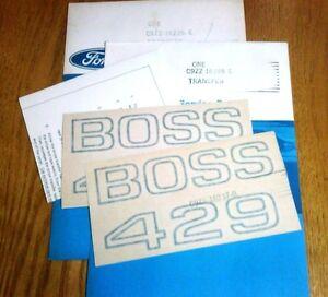 NOS-Ford-C9ZZ-16228-E-BOSS-429-black-fender-decals-KKX-C9ZX-16237-B-WOW