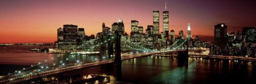 NYC by Richard  Berenholtz Poster 59x20 NEW YORK CITY ART PRINT Brooklyn Bridge