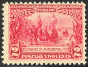 329-2c-1907-Jamestown-Lovely-Mint-NH-Single