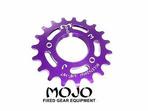 Fits all cog sizes PURPLE CNC Cro-Mo MOJO Fixed Gear Lockring