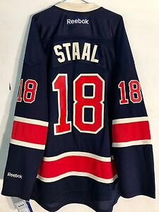 the best attitude 3b358 a8498 Details about Reebok Premier NHL Jersey New York Rangers Staal Navy  Alternate sz 2X