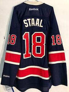 the best attitude 193c4 9495e Details about Reebok Premier NHL Jersey New York Rangers Staal Navy  Alternate sz 2X