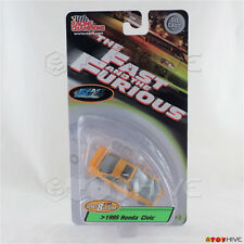 Fast and Furious 1:64 1995 Honda Civic light orange series 8 Racing Champions