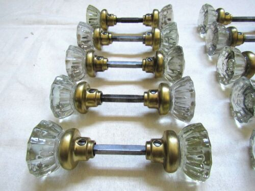 1 Pair of Antique Glass Door Knobs Restored Many Available! Ready to Install