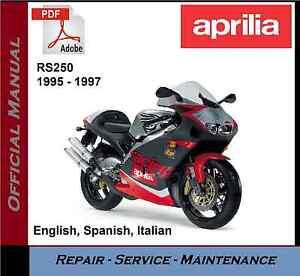Aprilia Rs250 Rs 250 1995 1997 Workshop Service Repair Manual Ebay