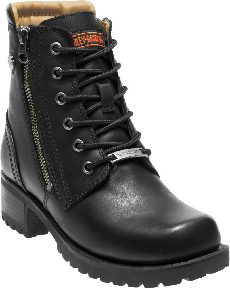 Harley-Davidson® Women's ASHER Black Leather Motorcycle Boots D84250