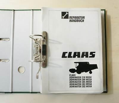 2019 Neuestes Design Claas Dominator 202 203 204 208 218 Mega Mähdrescher Werkstatthandbuch 1996 Up-To-Date-Styling