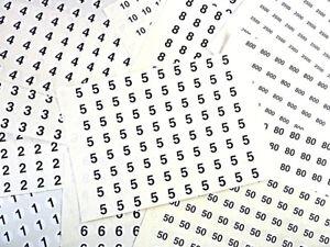 13mm 1.3cm CERCLE NOIR SUR BLANC numéros collant-numérotation stickers-plastic QZsrUbK2-07135338-391611146