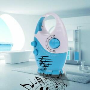 Mini-AM-FM-Music-Bathroom-Shower-Radio-Set-Waterproof-Hanging-Built-in-Speaker