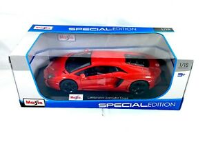 Lamborghini-Aventador-escala-1-18-Maisto-Edicion-Especial-Coche-Deportivo-Nuevo-En-Caja
